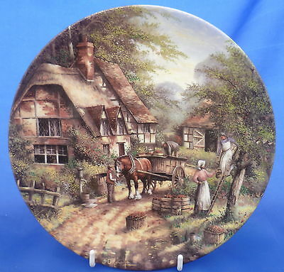 Wedgwood Country Days Collector Plate By Chris Howells - The Apple Pickers