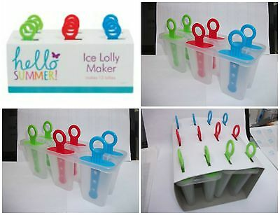 Lolly Maker Mould 12 piece Ice Pops reuseable Party BBQ Squash Alcochol new