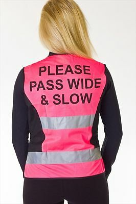 HyVIZ Waistcoat - Please Pass Wide & Slow - High Visibility/Safety