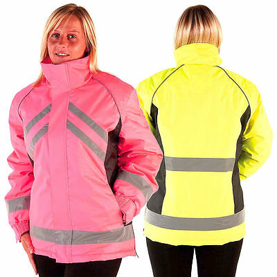 HyVIZ Waterproof Unisex Safety Hi-Visibility Fluorescent Horse Riding Jacket