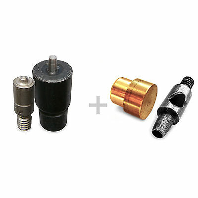 Set 2 in 1 die tool for eyelets and hole puncher different sizes available Sa17