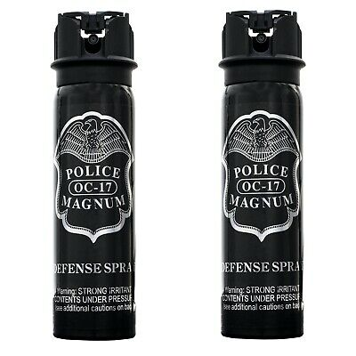 2 PACK Police Magnum pepper mace spray 4oz Flip Top Defense Personal Protection