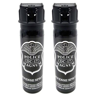 2 pack Police Magnum 4oz Flip Top pepper spray Self Defense Personal Protection