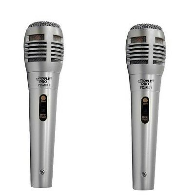 2 X Pyle PDMIK1 Professional Moving Coil Dynamic Coil Handheld Microphone