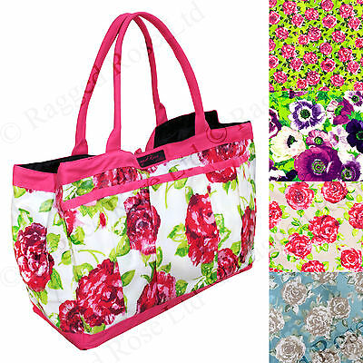 Ragged Rose  PVC Wipe clean Garden Trug Bag with handy pockets