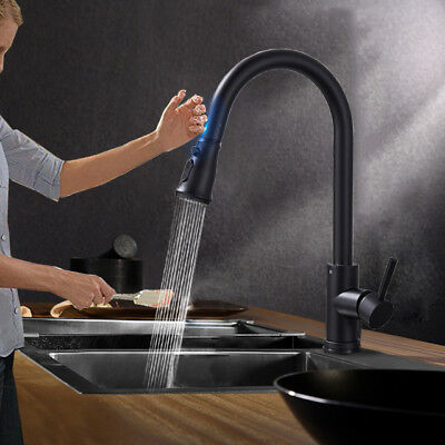 Intelligent Touch Kitchen Sink Faucet Pull Out Sprayer Mixer Tap