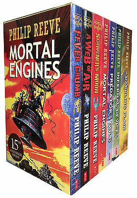 Philip Reeve Mortal Engines Quartet 7 Books Collection  Fever Crumb, A Web of Ai