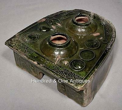 Authentic Ancient Chinese Green Glaze Ceramic Han Dynasty 25-220 A.D Stove Model