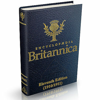 Encyclopedia Britannica - 11th Eleventh Edition 1910/1911  29 Volumes on DVD