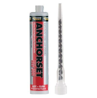 Everbuild Anchorset Red Chemical Anchor Concrete Stud Masonry Rawl Resin Fixing