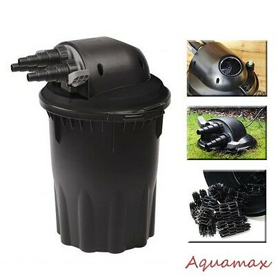 3000 Gallons Koi Fish Pond Pressurized 18 Watts UV Bio Filter with Water Pump