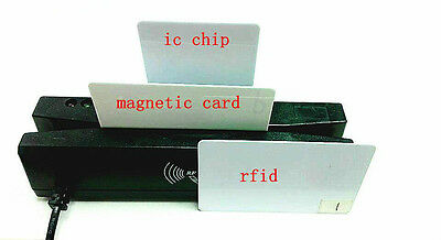All Four in one card reader writer board support magnetic/ic chips/rfid/PSAM 101