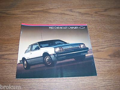 """Mint 1983 Chevrolet Cavalier Chevy Brochure 9"""" X 11""""  20 Pages"""