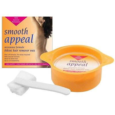 Smooth Appeal Microwaveable Peel Off Bikini Hair Remover Wax (10 treatment) 125g