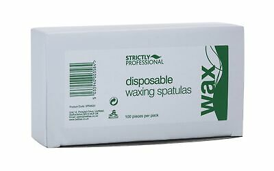 Strictly Professional Disposable Wooden Waxing Spatulas Box Contains 100 Piece