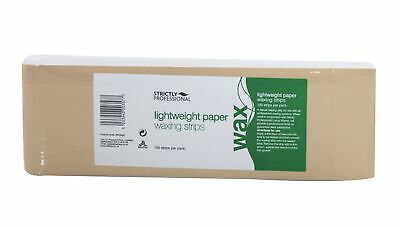 Strictly Professional Lightweight Paper Waxing Strips- Pack of 100 Strips