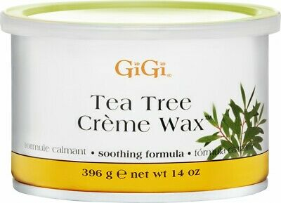 GiGi Tea Tree Crème Wax A Soothing Hair Removal Formula 396g