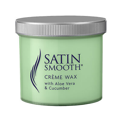 Satin Smooth Creme Wax by Babyliss Pro w/ Aloe Vera Cucumber Sensitive Skin 425g