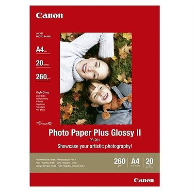 Canon PP-201 2311B019 Photo Paper Plus Glossy II A4 210 x 297 260gsm 20 Shts