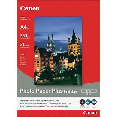 Canon SG-201 1686B021 Photo Paper Plus Semi-gloss A4 260gms 0.26mm 20 Sheets