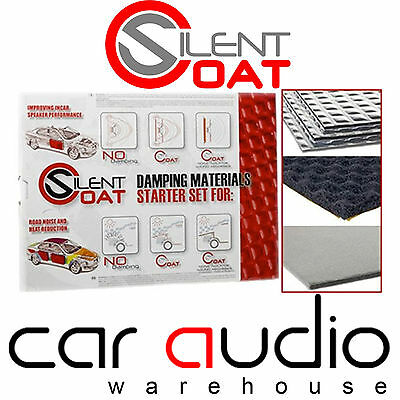 Silent Coat Starter Set Car Door Speaker Sound Proofing Deadening Material Mat