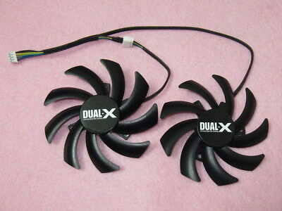 85mm Sapphire AMD Radeon R9 270X 280 280X Dual-X Fan Replacement 12V 0.40A R161b