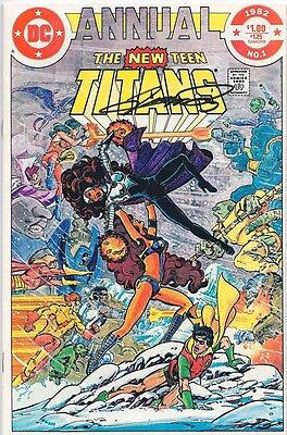 The New Teen Titans Annual #1 VF Signed by George Perez