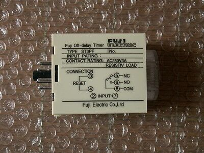 TOP QUALITY 220V AC Power Off Delay Timer Time Relay 0-3 Minute ST3PF & Base