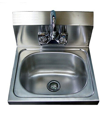 "WALL HUNG HAND SINK  WITH FAUCET |  17"" x 15"" x 5"" 