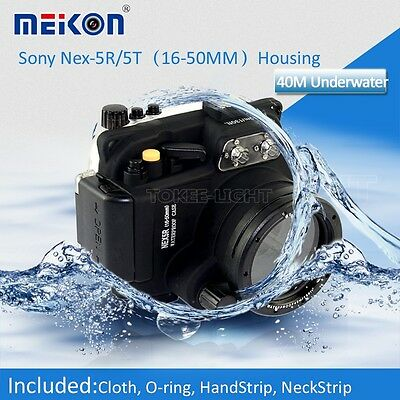 Underwater Waterproof dive Housing Case for Sony NEX 5R / 5T 16-50mm Lens Camera