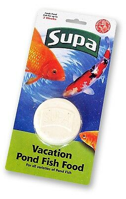 Supa Vacation Pond Fish Food 2 Week Holiday Block Feed for 2 Weeks