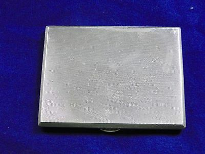 Cigarette Case, Sterling Silver, Engine Turn Art Deco, Birmingham 1933, Marked