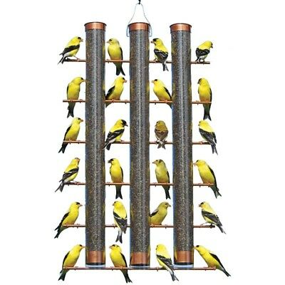 Finches Favorite 3 Tube Finch Thistle Seed Bird Feeder