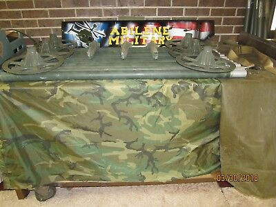 Military Camo Camouflage Net Support System 12 Al Poles Bag 24 Stakes Spreaders