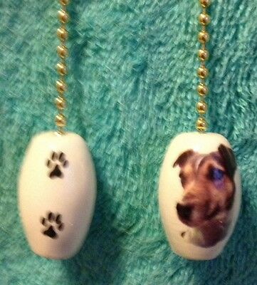 One Jack Russell Terrier Dog Fan Pull With Paw Prints On The Back 1""
