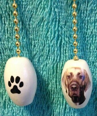One Great Dane Dog Fan Pull With A Paw Print On The Back 1""