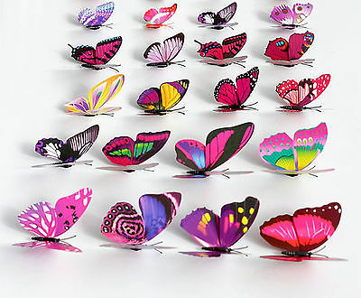 Colorful Artificial Butterflies Magnetic Craft Floral Supplies Wedding Festival
