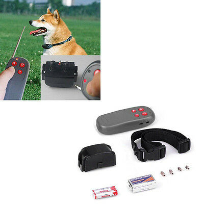 4in1 Pet Dog Training Vibrate Electric Shock No Bark Collar Remote Control #v