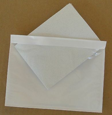 """7.5"""" x 5.5"""" Clear Adhesive Packing List Shipping Label Envelopes Pouches 300 Pcs"""