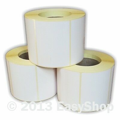 102mm x 76mm White Thermal Direct Zebra Printer Labels 1000 Per Roll 76mm Core