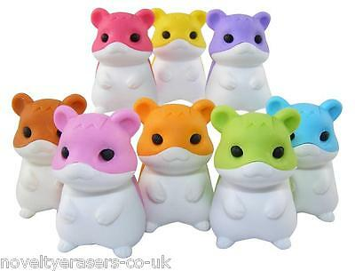 IWAKO Japanese Animal Novelty Puzzle Eraser Rubber- IWAKO Kawaii Hamster Eraser