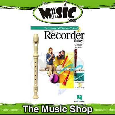 New Play Recorder Today Starter Pack - Music Tuition Book with CD & Recorder