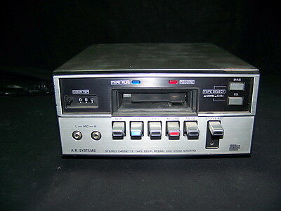 APARATO VINTAGE Grabador A.R. SYSTEMS stereo casette tape deck