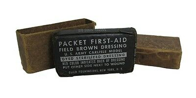Original US Army M42 FIELD BROWN DRESSING Carlisle First Aid WW2 Medical Surplus