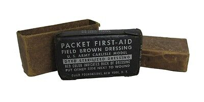 Original US M42 First Aid Field Dressing - WW2 Army Military Medical Surplus