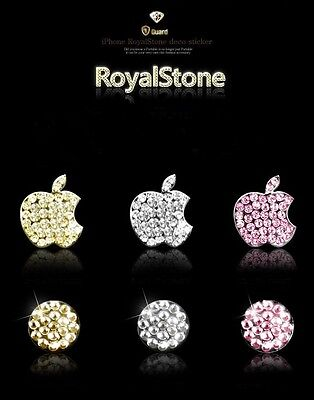 iphone GREEN jewelled Diamond Crystal  Home Button & Logo x 1 For iPhone 5/4/4S