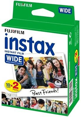20 Prints Fuji Fujifilm Instax 200/210/300 Instant Color Print Wide Film