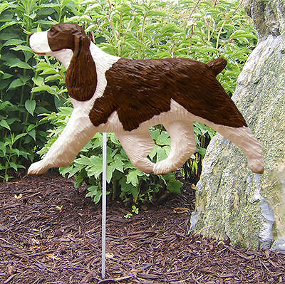 English Springer Spaniel Outdoor Garden Dog Sign Hand Painted Figure Liver