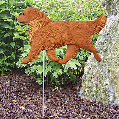 Golden Retriever Outdoor Garden Dog Sign Hand Painted Figure Dark