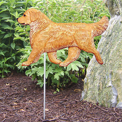Golden Retriever Outdoor Garden Dog Sign Hand Painted Figure Light